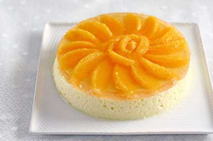 Bavarois aux fruits de la passion et à la mangue