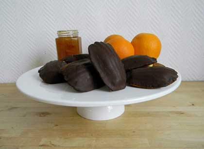 Madeleines choc'orange