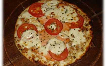 Pizza au saumon et Boursin