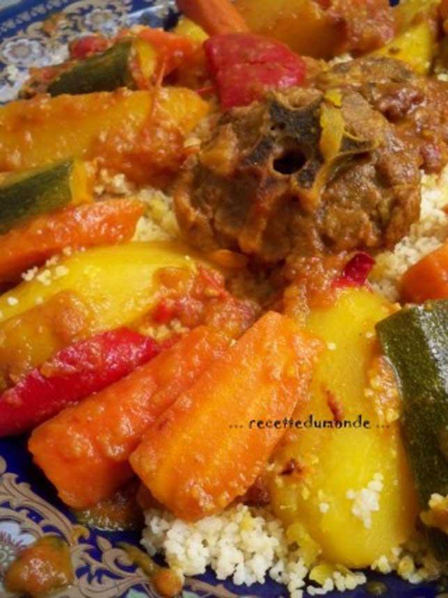 Recette couscous traditionnel - Recette cuisine couscous tunisien ...