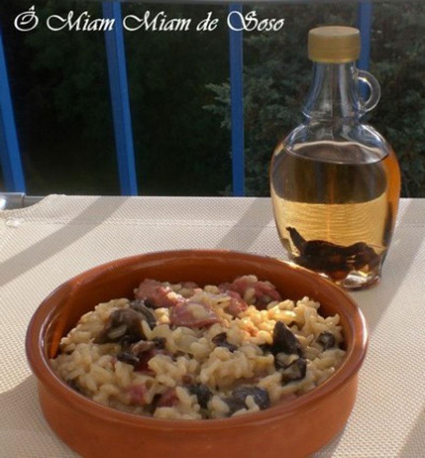 recette risotto aux morilles et g siers confits. Black Bedroom Furniture Sets. Home Design Ideas