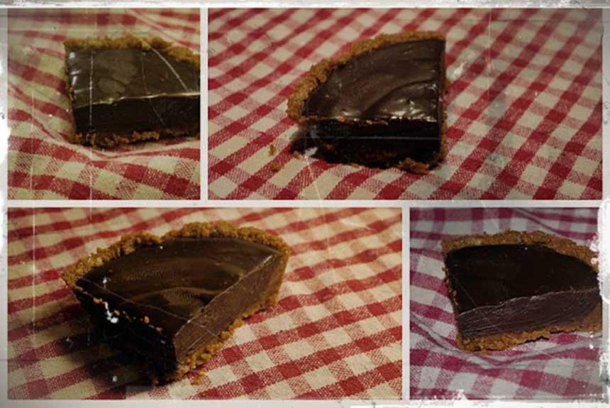 Recette tarte mendiante - Tarte au chocolat sans oeuf ...