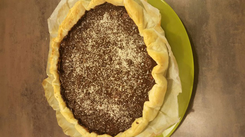 Recette tarte aux bananes et au chocolat - Recette tarte aux chocolat ...