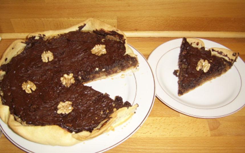 Recette tarte aux noix et chocolat - Recette tarte aux chocolat ...