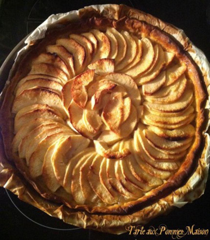 Recette tarte aux pommes maison et facile - Tarte aux pommes compote maison ...
